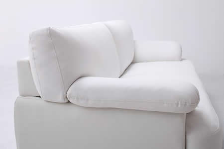 フランス産フェザー使用 モダンデザインソファー 160cm かっこいいレザー仕様