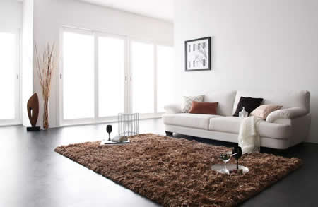 フランス産フェザー使用 モダンデザインソファー 160cm 圧迫感の出にくいサイズ