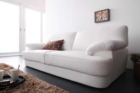 フランス産フェザー使用 モダンデザインソファー 160cm 脚を外してローソファーにもなります。