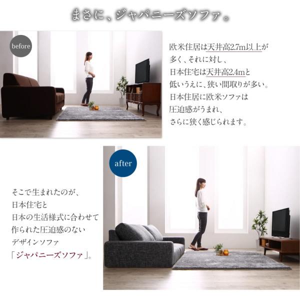 ファブリック仕様モダンローソファー【Camellia】カメリア:激安通販
