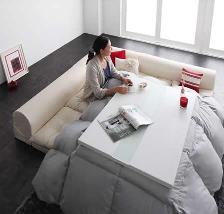 レザータイプフロアコーナーソファー【space】スペース