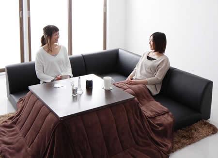テーブル付きフロアコーナーソファー【Tino】ティーノ