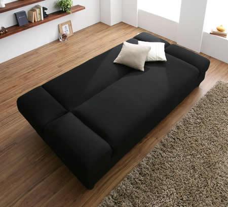 肘置きがあるリクライニングカウチソファーベッド しっかりとしたベッド