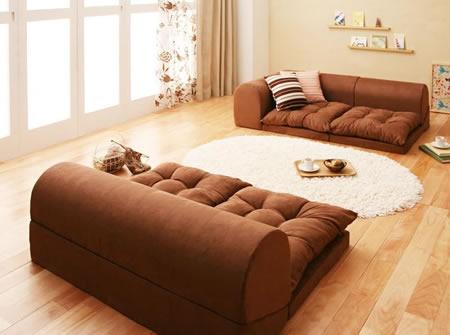 フロアコーナーソファー【moffy】モフィ カウチソファースタイルにもなります。