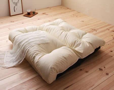 フロアリクライニングソファー【Puff】パフ フルフラットで簡易ベッド