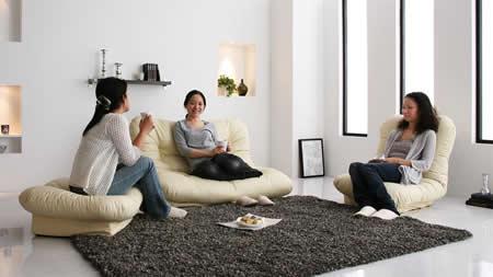コーナーリクライニングソファー「feeta」フィータ 対面スタイル