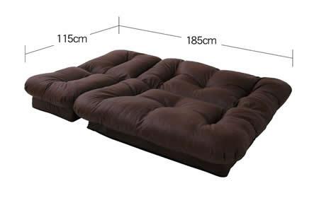 コーナーリクライニングソファー「feeta」フィータ ベッド時サイズ