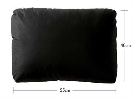 フロアコーナーカウチソファー:レザータイプ クッションサイズ