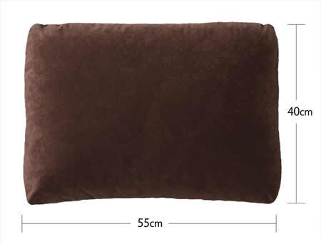 フロアコーナーカウチソファー:スエードタイプ クッションサイズ