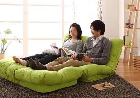 フロアコーナーカウチリクライニングソファ【tafito】タフィト 2人掛けソファーにも