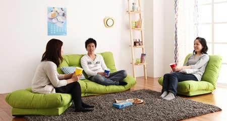 フロアコーナーカウチリクライニングソファ【tafito】タフィト 独立したソファーにも