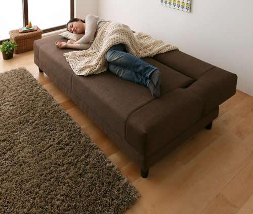 寝心地抜群コイルスプリングソファーベッド 寝心地も抜群