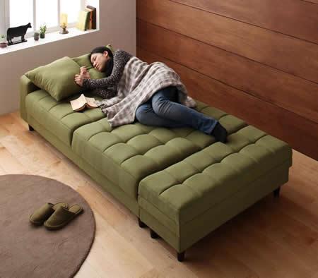マルチソファーベッド【Holm】ホルム 幅広ベッドにもなります。