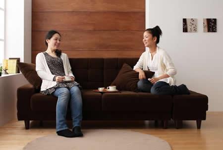 マルチソファーベッド【Holm】ホルム 横に並べて幅広ソファーに