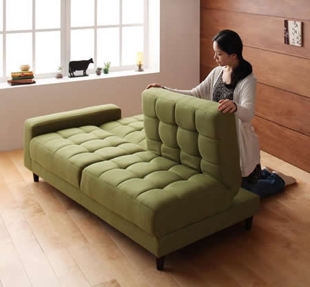 マルチソファーベッド【Holm】ホルム 簡単にベッドに変形できます。