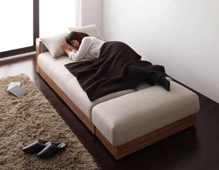 マルチソファーベッド【Palace】パレス ゆったり寝られる幅広ベッド