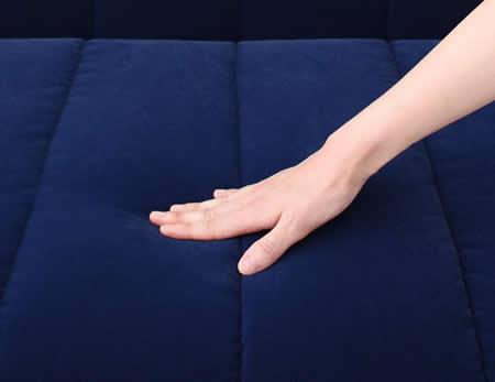 ふたりで寝られるダブルサイズカウチソファーベッド【ROLLY】ローリー 固めの座り心地