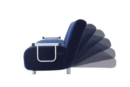 ふたりで寝られるダブルサイズカウチソファーベッド【ROLLY】ローリー 6段階リクライニング機能つき