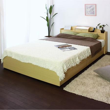 棚 照明 コンセント 引出付きベッド A269 シングル ナチュラル