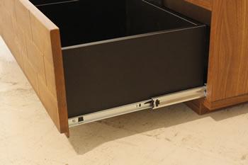 アルダー無垢材使用!レンガ風TVボード:ロータイプ