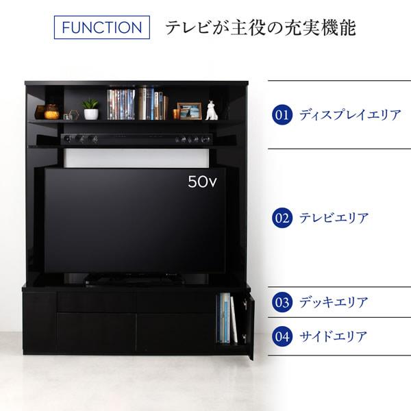 鏡面仕上げがおしゃれなハイタイプコーナーテレビボードの激安通販