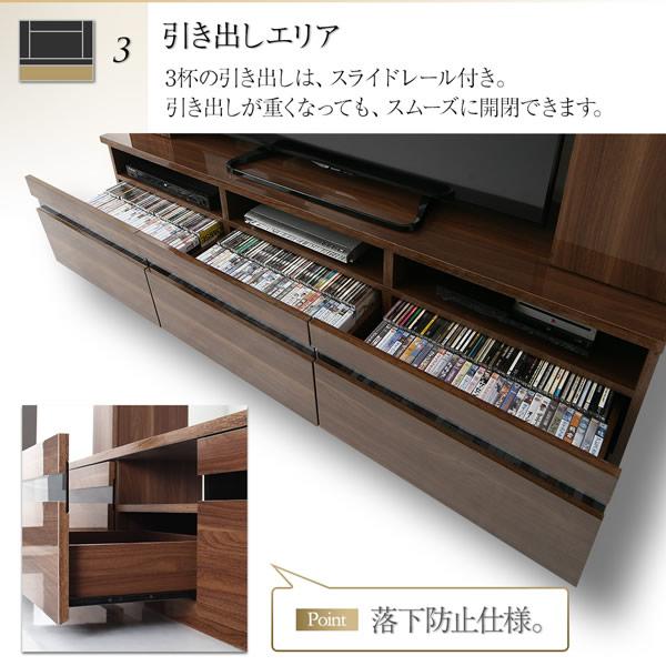 ハイグロス仕上げ(鏡面仕様)ハイタイプテレビボード【Harmonia】ハルモニアの激安通販