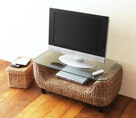 アジアン家具 ウォーターヒヤシンスシリーズ 【Wyja】 テーブル テレビ台としても使えます