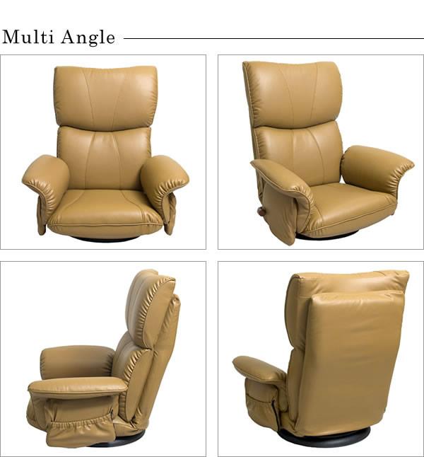 ボリューム抜群!肘付き日本製スーパーソフトレザー回転式座椅子【匠】たくみの激安通販